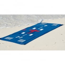 Gifts For Aviators Runway Beach Towel