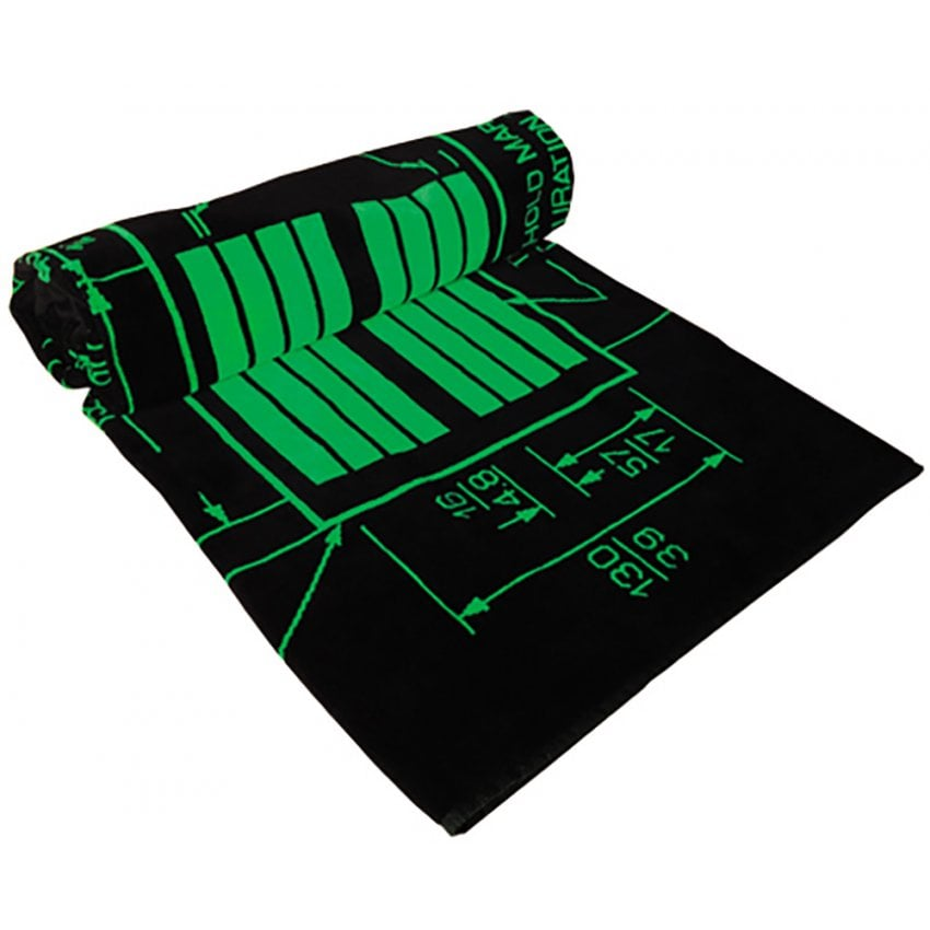 Runway Markings Black Bath Towel