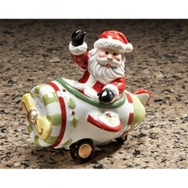 Santa and Airplane Salt and Pepper Set