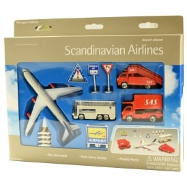 Scandinavian Airlines 10 Piece Airport Play Set