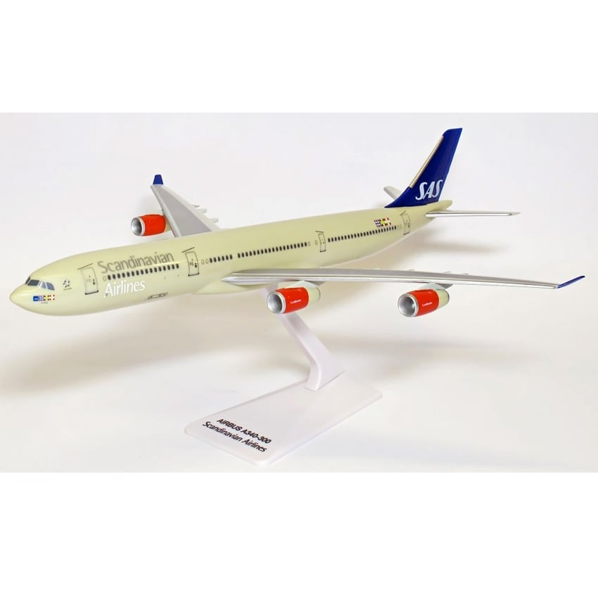 Scandinavian Airlines A340-300 Snap Model Toy - Scale 1:250