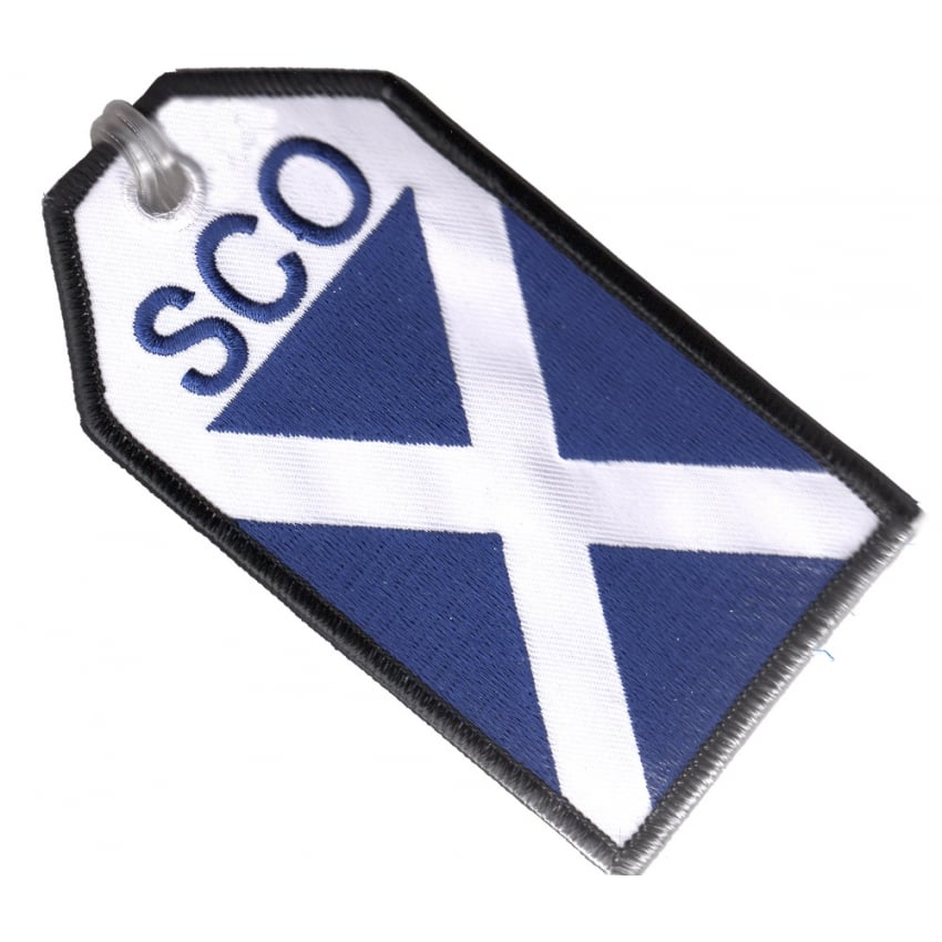 Scotland Flag Embroidered Baggage Tag