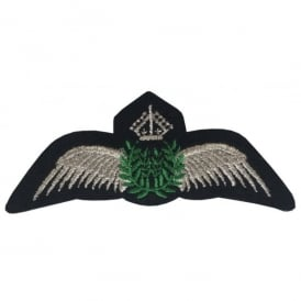 Silver Pilot Wings Iron On Patch