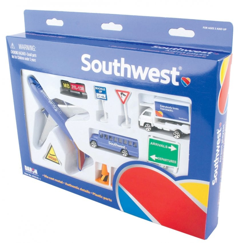 Southwest Airlines 12 Piece Model Play Set