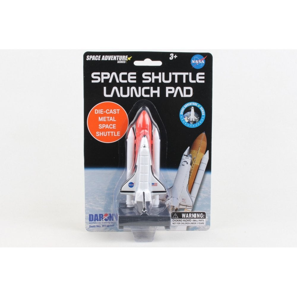 Daron Space Shuttle on Landing Pad Diecast Toy