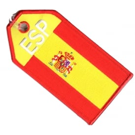 Spain Flag Embroidered Baggage Tag