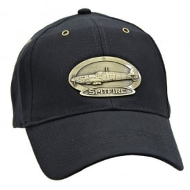 Spitfire Airplane Cap with Brass Emblem