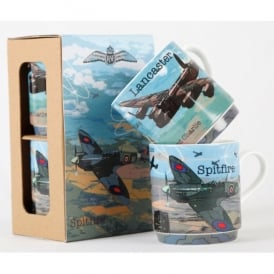 Spitfire and Lancaster Stacking Mug Set