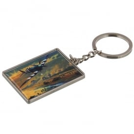 Spitfire and Landings Keyring