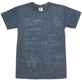 Spitfire Blueprint T-Shirt in Navy