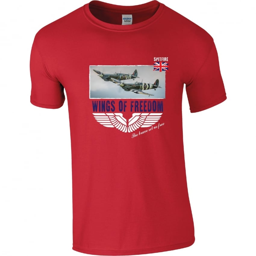 Spitfire Duo Wings of Freedom T-Shirt