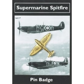 Spitfire Gold Plated Pin Badge