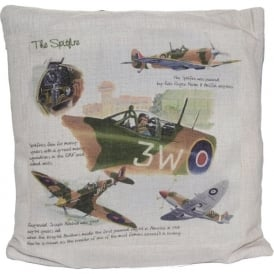 Spitfire Hessian Cream Cushion