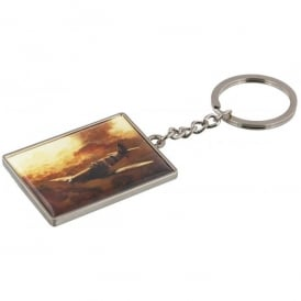Spitfire In The Clouds Keyring