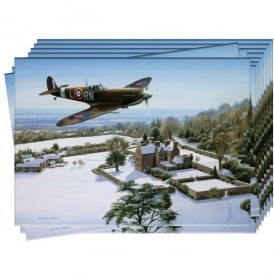 Spitfire Over Chartwell Christmas Cards - Pack of 10