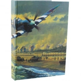 RAF Spitfire Over The Coast Note Book