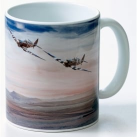 Spitfire Pair Wings of Freedom Mug