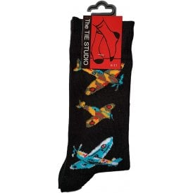 Tie studio Spitfire Socks in Black