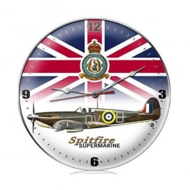 Gifts For Aviators Spitfire Union Jack Airplane Wall Clock