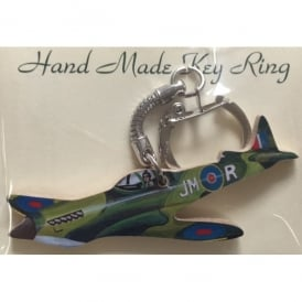 Spitfire Wooden Cut Out Keyring