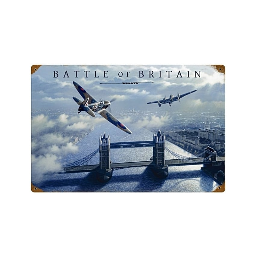 Stan Stokes Battle Of Britain Metal Sign