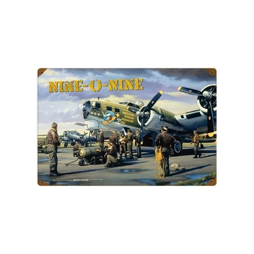 Stan Stokes Nine-O-Nine Metal Sign