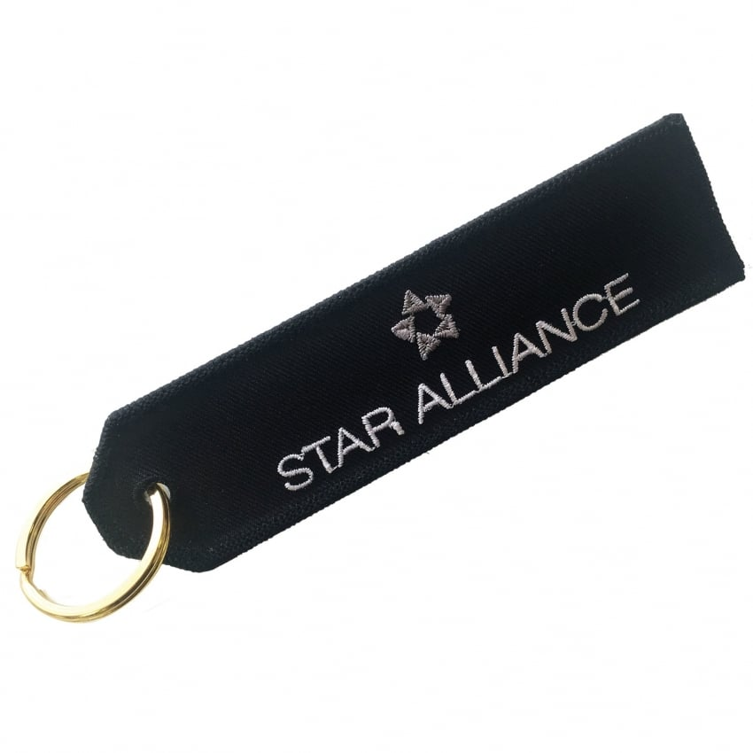 Star Alliance Embroidered Keyring