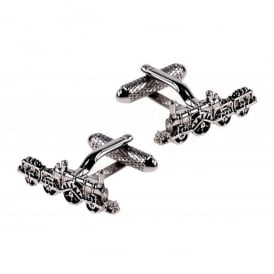 Steam Train and Tender Cufflinks