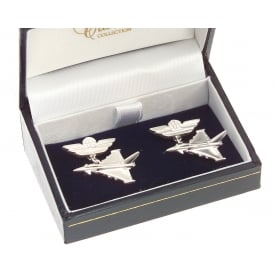 Clivedon Sterling Silver Cufflinks - Eurofighter