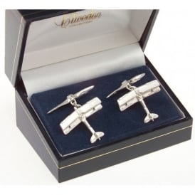 Sterling Silver Cufflinks - Tiger Moth