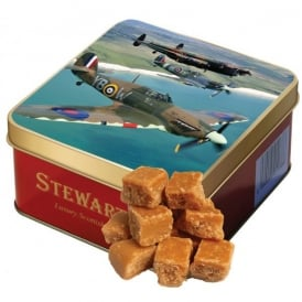 Stewarts Scottish Fudge 190g - Battle Of Britain Trio Square Tin