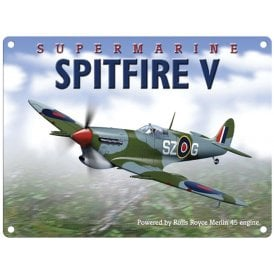 Original Metal Sign Company Supermarine Spitfire V Metal Sign