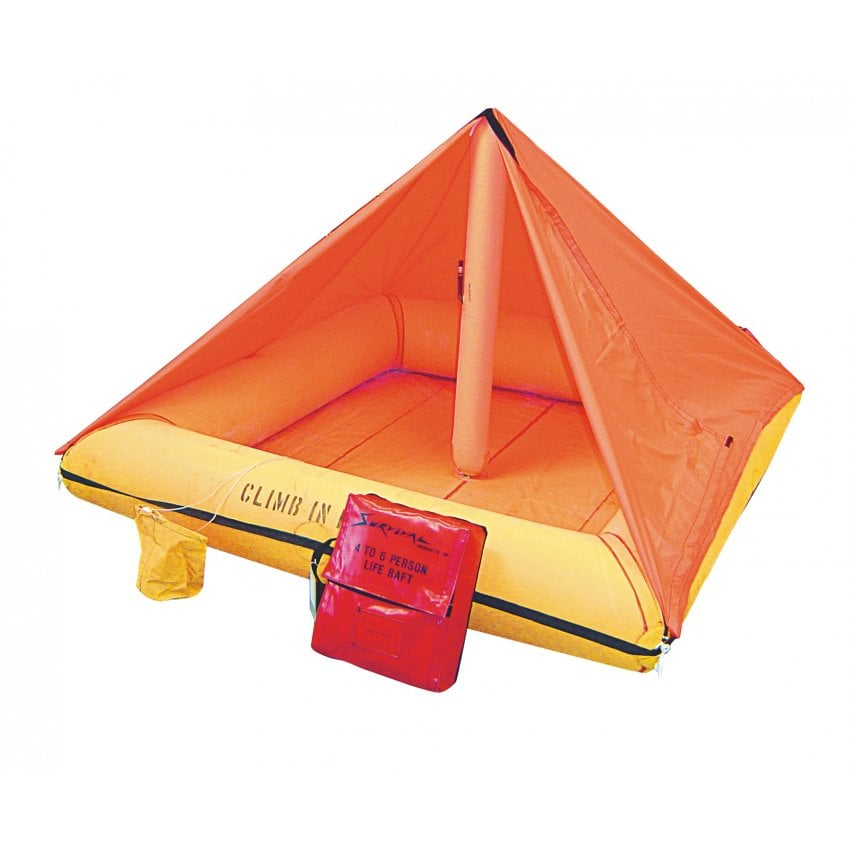 Liferaft - 4 person with Canopy and Equipment