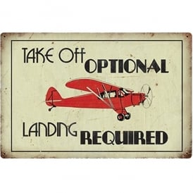 Take Off Optional Retro Aviation Sign