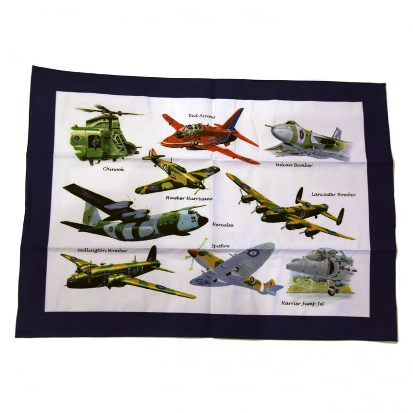 Tea Towel - Aircraft Montage