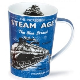 The Incredible Steam Age Blue Streak Argyll Mug