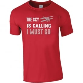 Chocks Away The Sky Is Calling - I Must Go T-Shirt