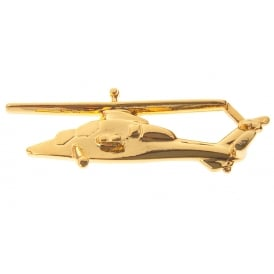 Tiger Helicopter Boxed Pin - Gold