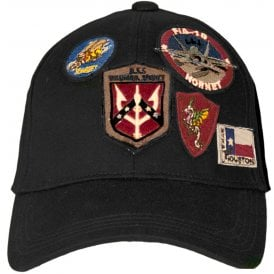 6426236e7a0 Top Gun Patch Baseball Cap in Black