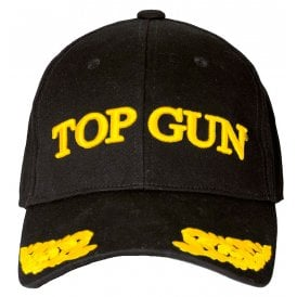 a8de24b8f20 Top Gun Wings Baseball Cap in Black