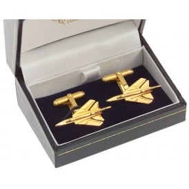 Tornado Cufflinks - Gold Plated