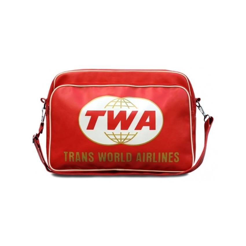 Trans World Airline Travel Bag In Red