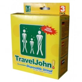 Travel John 3 Pack Disposable Urinal