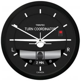"Trintec Turn & Bank 10"" Wall Clock - 2060 Series"