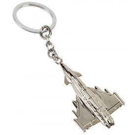 Typhoon Silver Plated Keyring