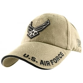 U.S. Air Force Emblem Khaki Baseball Cap