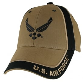 U.S. Air Force Wings Stripe Coyote Baseball Cap