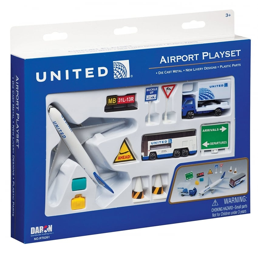 United Airlines 12 Piece Model Play Set