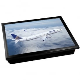 United Airlines Boeing 737 Cushion Lap Tray