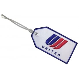 United Airlines Saul Bass Logo Embroidered Baggage Tag